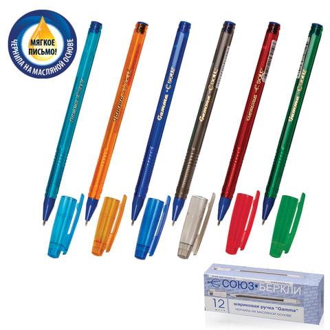 """Ручка шариковая масляная СОЮЗ """"Gamma"""", корпус тонированный, игольчатый пишущий узел 0,7 мм, синяя, РШ 155-01"""