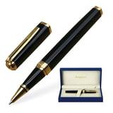 """Ручка-роллер WATERMAN """"Exception GT Slim"""", корпус черный, нержавеющая сталь, позолоченные детали, черная, S0636990"""
