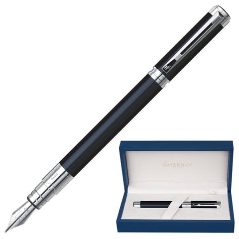 """Ручка перьевая WATERMAN """"Perspective CT"""", корпус черный, латунь, никеле-палладиевое покрытие деталей, S0830660, синяя"""
