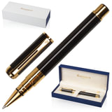"""Ручка-роллер WATERMAN """"Perspective GT"""", корпус черный, латунь, позолоченные детали, черная, S0830860"""