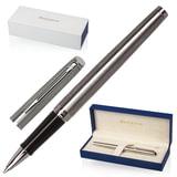 """Ручка-роллер WATERMAN """"Hemisphere Steel CT"""", корпус серебристый, нержавеющая сталь, хромированные детали, черная, S0920450"""