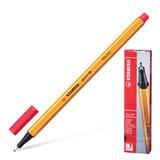 """Ручка капиллярная STABILO """"Point"""", корпус оранжевый, толщина письма 0,4 мм, неоновая красная, 88/040"""