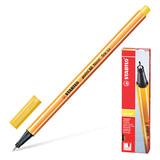 """Ручка капиллярная (линер) STABILO """"Point 88"""", ЖЕЛТАЯ, корпус оранжевый, линия письма 0,4 мм, 88/44"""