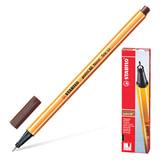 """Ручка капиллярная STABILO """"Point"""", корпус оранжевый, толщина письма 0,4 мм, коричневая, 88/45"""