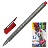 """Ручки капиллярные STAEDTLER """"Triplus Fineliner"""", набор 13 шт., трехгранные, линия 0,3 мм, ассорти, 334 TB13"""