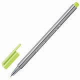 Ручка капиллярная STAEDTLER (Германия), трехгранная, толщина письма 0,3 мм, лаймовая, 334-53