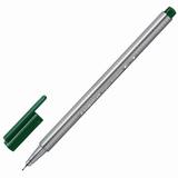 Ручка капиллярная STAEDTLER (Германия), трехгранная, толщина письма 0,3 мм, зеленая земля, 334-55