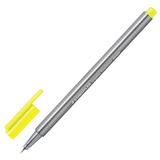 Ручка капиллярная STAEDTLER (Германия), трехгранная, толщина письма 0,3 мм, неоновая желтая, 334-101