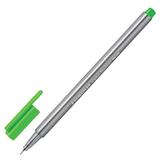 Ручка капиллярная STAEDTLER (Германия), трехгранная, толщина письма 0,3 мм, неоновая зеленая, 334-501