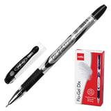 """Ручка гелевая CELLO """"Flo Gel"""", корпус непрозрачный, игольчатый пишущий узел 0,5 мм, резиновый держатель, черная, 306265010/к"""