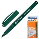 Ручка-роллер CENTROPEN, трехгранная, корпус зеленый, узел 0,5 мм, линия 0,3 мм, черная, 4615/1Ч