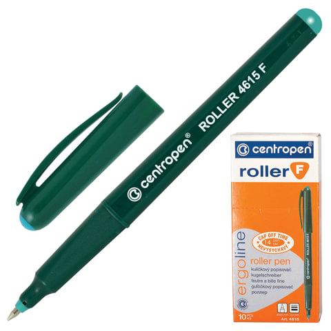 Ручка-роллер CENTROPEN, трехгранная, корпус зеленый, толщина письма 0,3 мм, зеленая, 4615/1З