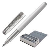 """Ручка-роллер PARKER """"Sonnet Premium Metal&Pearl Lacquer CT"""", корпус жемчужный лак, палладиевые детали, черная, 1931549"""