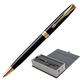 """Ручка шариковая PARKER """"Sonnet Lacquer GT"""", корпус черный лак, латунь, позолоченные детали, 1931497, черная"""