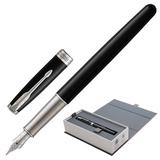"""Ручка перьевая PARKER """"Sonnet Core Black Lacquer CT"""", корпус черный глянцевый лак, палладиевые детали, черная, 1948312"""