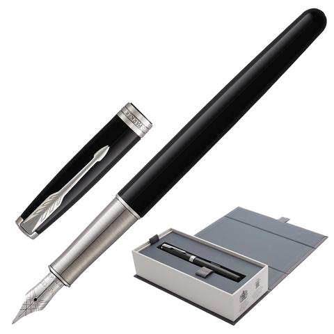 """Ручка перьевая PARKER """"Sonnet Lacquer CT"""", корпус черный лак, латунь, палладиевое покрытие деталей, 1948312, черная"""