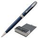 """Ручка шариковая PARKER """"Sonnet Lacquer CT"""", корпус синий лак, нержавеющая сталь, палладиевое покрытие деталей, 1931536, черная"""