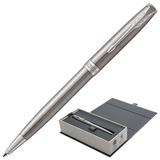 """Ручка шариковая PARKER """"Sonnet Core Stainless Steel CT"""", корпус серебристый, палладиевые детали, черная, 1931512"""