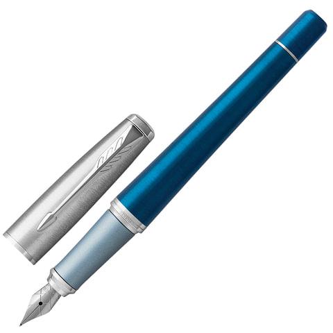 """Ручка перьевая PARKER """"Urban Premium Dark Blue CT"""", корпус темно-синий, хромированные детали, синяя, 1931563"""