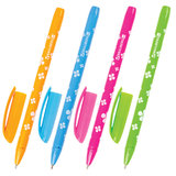 "Ручка шариковая масляная BRAUBERG ""FRUITY SF"", СИНЯЯ, с узором, узел 1 мм, линия письма 0,5 мм, OBP125"