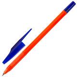 """Ручка шариковая масляная STAFF """"Flare"""", СИНЯЯ, корпус оранжевый, узел 1 мм, линия письма 0,7 мм, OBP101"""