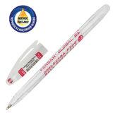 "Ручка шариковая масляная PENSAN ""Global-21"", КРАСНАЯ, корпус прозрачный, узел 0,5 мм, линия письма 0,3 мм, 2221, 2221/12"