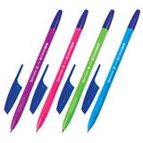 """Ручка шариковая BRAUBERG """"X-333"""" NEON SOLID, СИНЯЯ, корпус ассорти, узел 0,7 мм, линия письма 0,35 мм, 142831"""