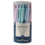"""Ручка шариковая автоматическая BRUNO VISCONTI """"SlimClick Zefir"""", ассорти, узел 0,5 мм, линия 0,3 мм, синяя, 20-0229"""