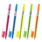 """Ручка шариковая масляная ПИФАГОР """"Neon"""", СИНЯЯ, корпус неоновый ассорти, узел 1 мм, линия письма 0,7 мм, 142966"""