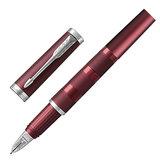 """Ручка """"Пятый пишущий узел"""" PARKER """"Ingenuity Deluxe Deep Red PVD"""", корпус бордовый, хромированные детали, черная, 1972233"""