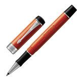 """Ручка-роллер PARKER """"Duofold Classic Big Red Vintage CT"""", корпус красный, палладиевые детали, черная, 1931379"""