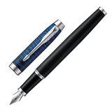 """Ручка перьевая PARKER """"IM Blue Origin CT"""", корпус черный матовый, хромированные детали, черная, 2073474"""