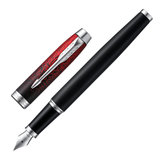 """Ручка перьевая PARKER """"IM Red Ignite CT"""", корпус черный матовый, хромированные детали, черная, 2073479"""