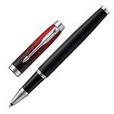 """Ручка-роллер PARKER """"IM Red Ignite CT"""", корпус черный матовый, хромированные детали, черная, 2074032"""
