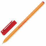 """Ручка шариковая масляная PENSAN """"Officepen 1010"""", КРАСНАЯ, корпус оранжевый, узел 1 мм, линия письма 0,8 мм, 1010/60"""