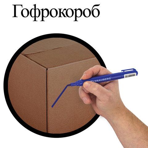 Маркеры перманентные (нестираемые) BRAUBERG, НАБОР 4 шт., АССОРТИ,