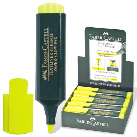 "Текстмаркер FABER-CASTELL ""1548"", скошенный наконечник 1-5 мм, флюоресцентный желтый, FC154807"