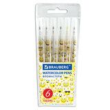 """Фломастеры BRAUBERG """"Смайлики"""", 6 цветов, вентилируемый колпачок, корпус с печатью, пластиковая упаковка, увеличенный срок службы, 150529"""