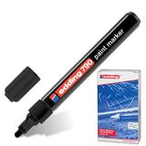 Маркер-краска лаковый (paint marker) EDDING 790, 2-4 мм, круглый наконечник, пластиковый корпус, черный, E-790/1