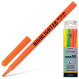 Текстмаркеры KOH-I-NOOR, набор 4 шт., скошенный наконечник 1-4 мм (желтый, оранжевый, зеленый, розовый), 772004JD01PK