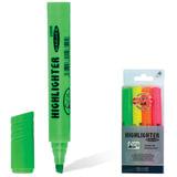 Текстмаркеры KOH-I-NOOR, набор 4 шт., скошенный наконечник 1-5 мм (желтый, оранжевый, зеленый, розовый), 772206JD01PKRU