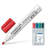 """Маркеры для доски STAEDTLER (Германия) """"Lumocolor"""", набор 4 штуки, круглые, 2 мм (черный, синий, красный, зеленый), 351 WP4"""