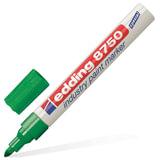 Маркер-краска лаковый (paint marker) EDDING 8750, ЗЕЛЕНЫЙ, 2-4 мм, круглый наконечник, алюминиевый корпус, Е-8750/4