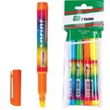 """Текстмаркеры СТАММ, набор 4 шт., """"Sprint"""", скошенный наконечник 1-5 мм (синий, зеленый, желтый, оранжевый), МТ33"""