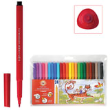 Фломастеры KOH-I-NOOR, 24 цвета, смываемые, трехгранные, пластиковая упаковка, европодвес, 771002BD04TERU