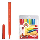 """Фломастеры KOH-I-NOOR """"Magic"""", 12 штук, 10 цветов+2 стирающих, смываемые, пластиковая упаковка, подвес, 771612AB01TE"""