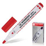 """Маркер для доски STABILO """"Plan"""", пулевидный наконечник 2,5-3,5 мм, красный, 641/40"""