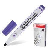 """Маркер для доски STABILO """"Plan"""", пулевидный наконечник 2,5-3,5 мм, фиолетовый, 641/55"""