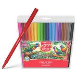 Фломастеры ERICH KRAUSE Artberry, 18 цветов, суперсмываемые, вентелируемый колпачок, пластиковая упаковка, 33051