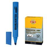 Текстмаркер KOH-I-NOOR, скошенный наконечник 1-5 мм, голубой, 7722061701KSRU